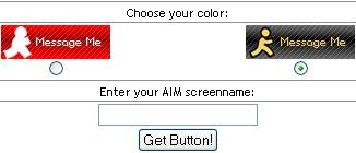 Myspace safe AIM Buttons