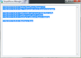 SkypePhone Manager Screnshot