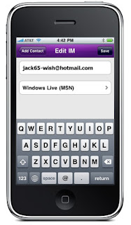 Yahoo! Messenger for iPhone (1.4) Screenshot