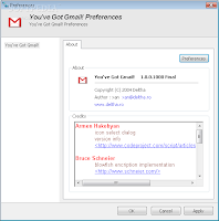 Gmail Notifier Plugin for Trillian Pro Screenshots