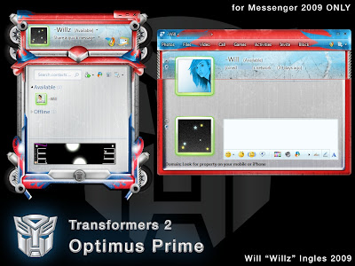 Transformers 2 - Optimus Prime Skin for WLM 2009