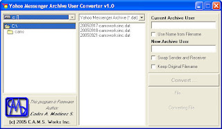 Yahoo Messenger Archive Converter Screenshot