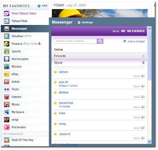 Yahoo Messenger Module Now Available on the New Yahoo Homepage