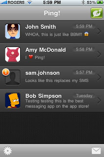 Ping! - Free SMS Client For iPhone and iPod Touch