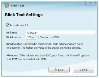 BlinkText Addon Screenshot