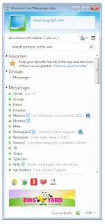 Windows Live Messenger 2011 Public Beta - Contact List