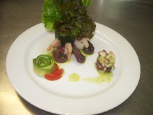 Aguachile de pulpo y camarón
