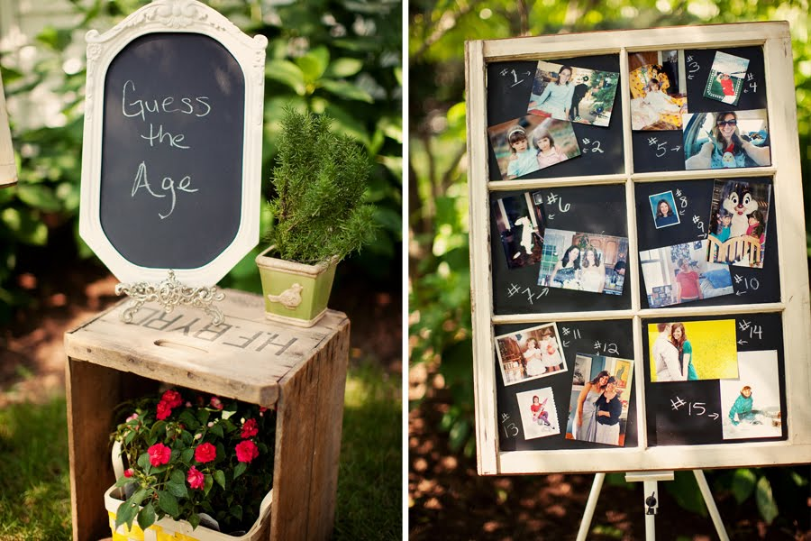 Outdoor garden bridal shower party idea
