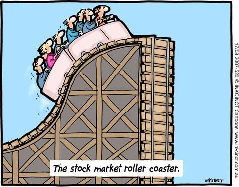 stock market game. while the market goes up