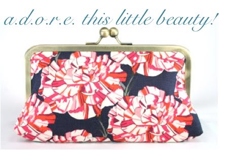 bee gee bags carnation bridesmaid clutch gift