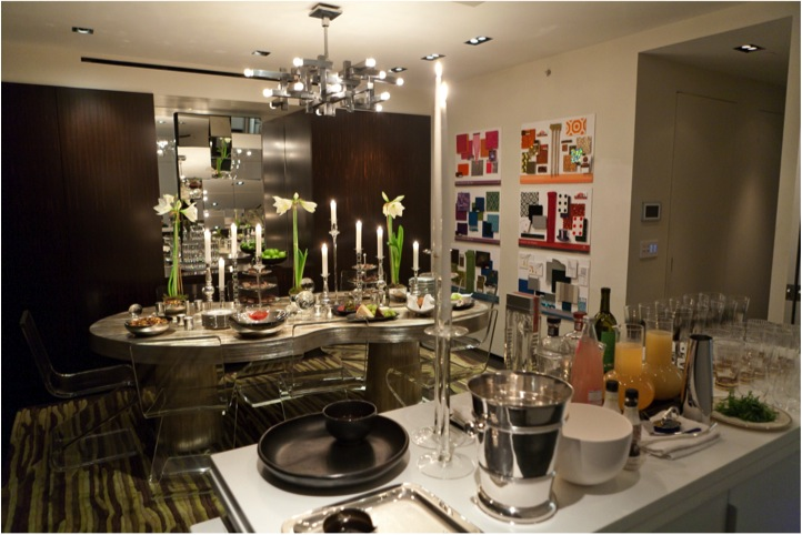 colin cowie's kitchen table in his new york city penthouse apartment