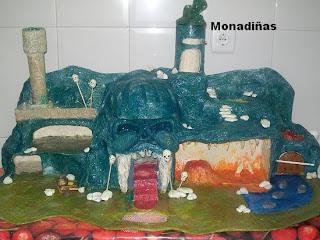 >>>>>    CASITA DE MUÑECAS EN PAPEL MACHE Cueva+terminada