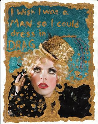 little sin, guilty pleasure, wish, man, drag queen, secret