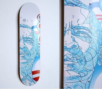 hand painted skate board japan