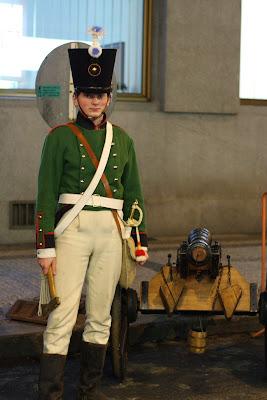Prague - soldier on the street