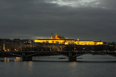 Prague Castle and Vltava river
