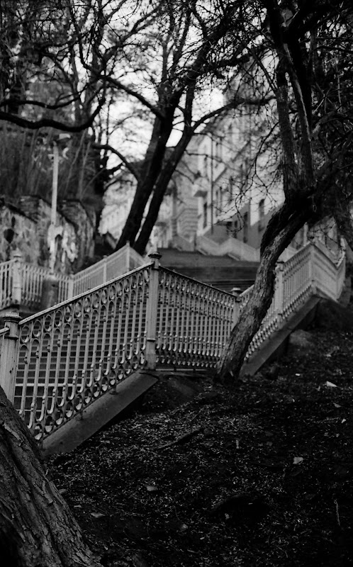 Stairs at Vinohrady, Prague