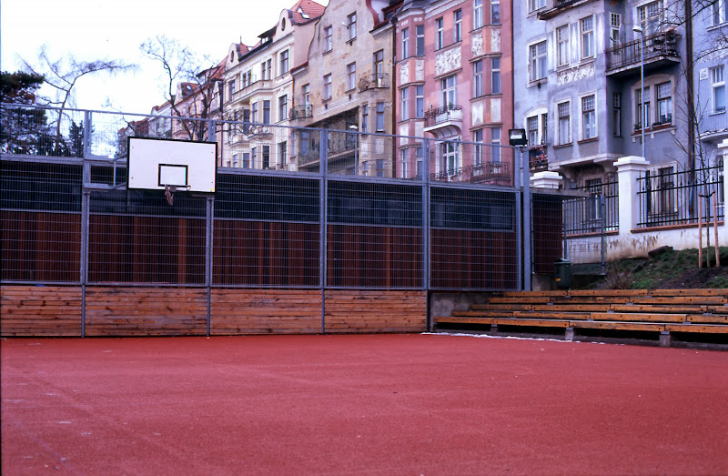 Basketball court in Prague
