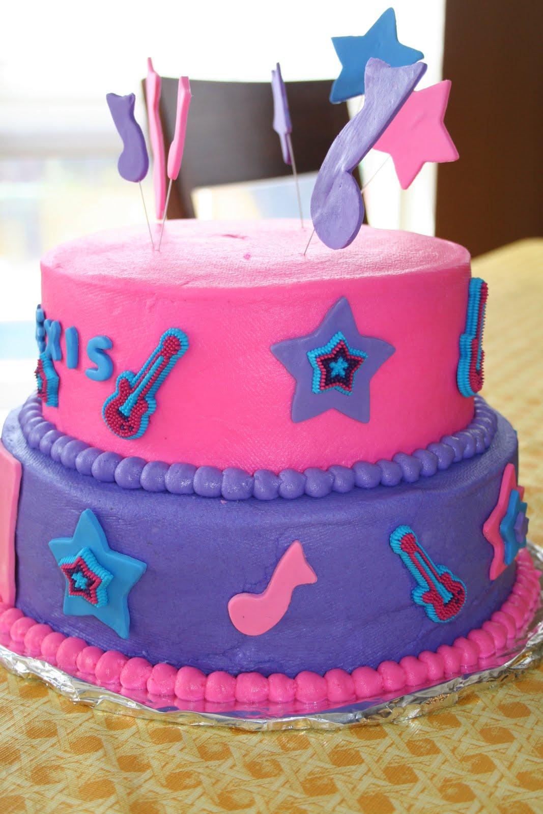 Rachels Creative Cakes My Daughters Rock Star Birthday Cake