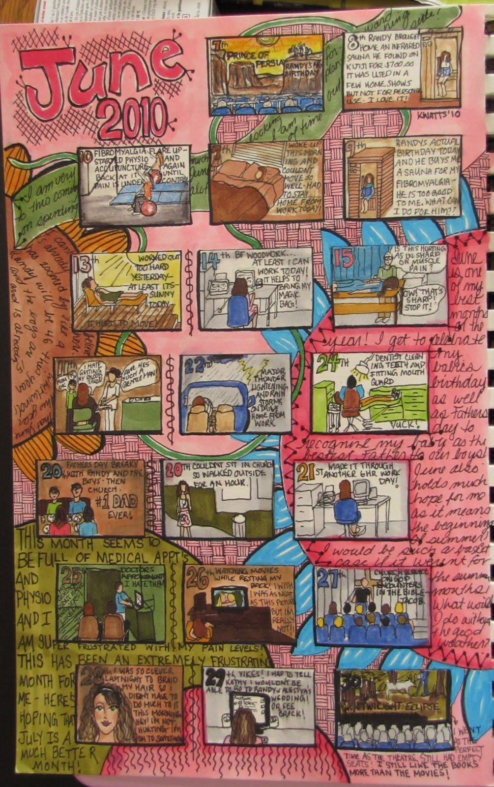Calendar Art Journal : Kelly s art journaling visual diary calendar june