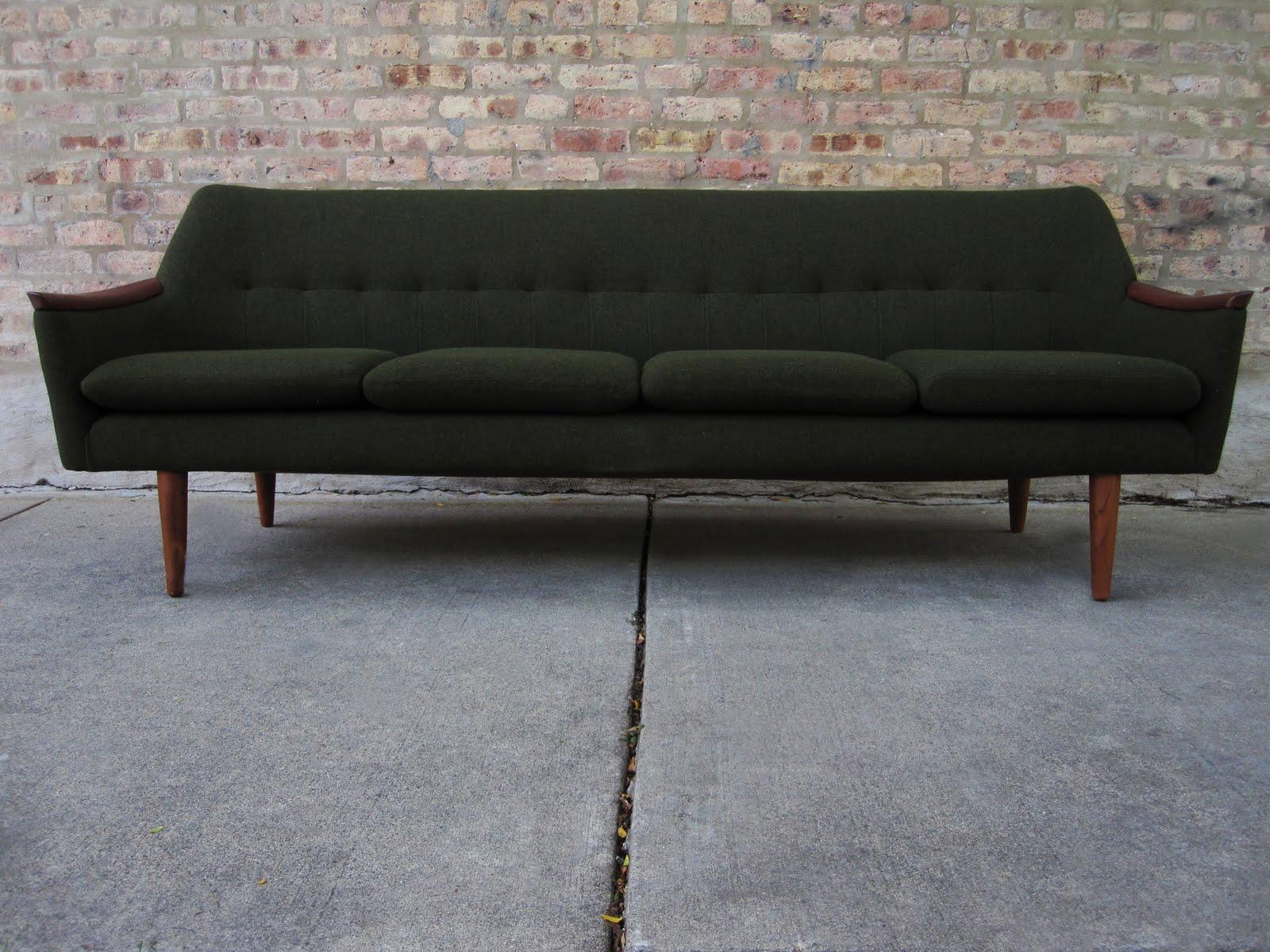 circa midcentury danish modern teak sofa