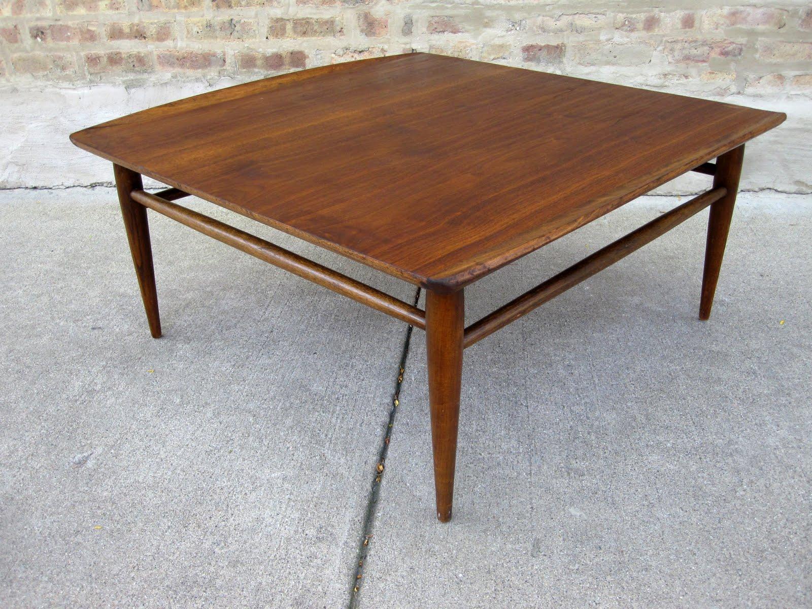 circa midcentury bassett walnut coffee table