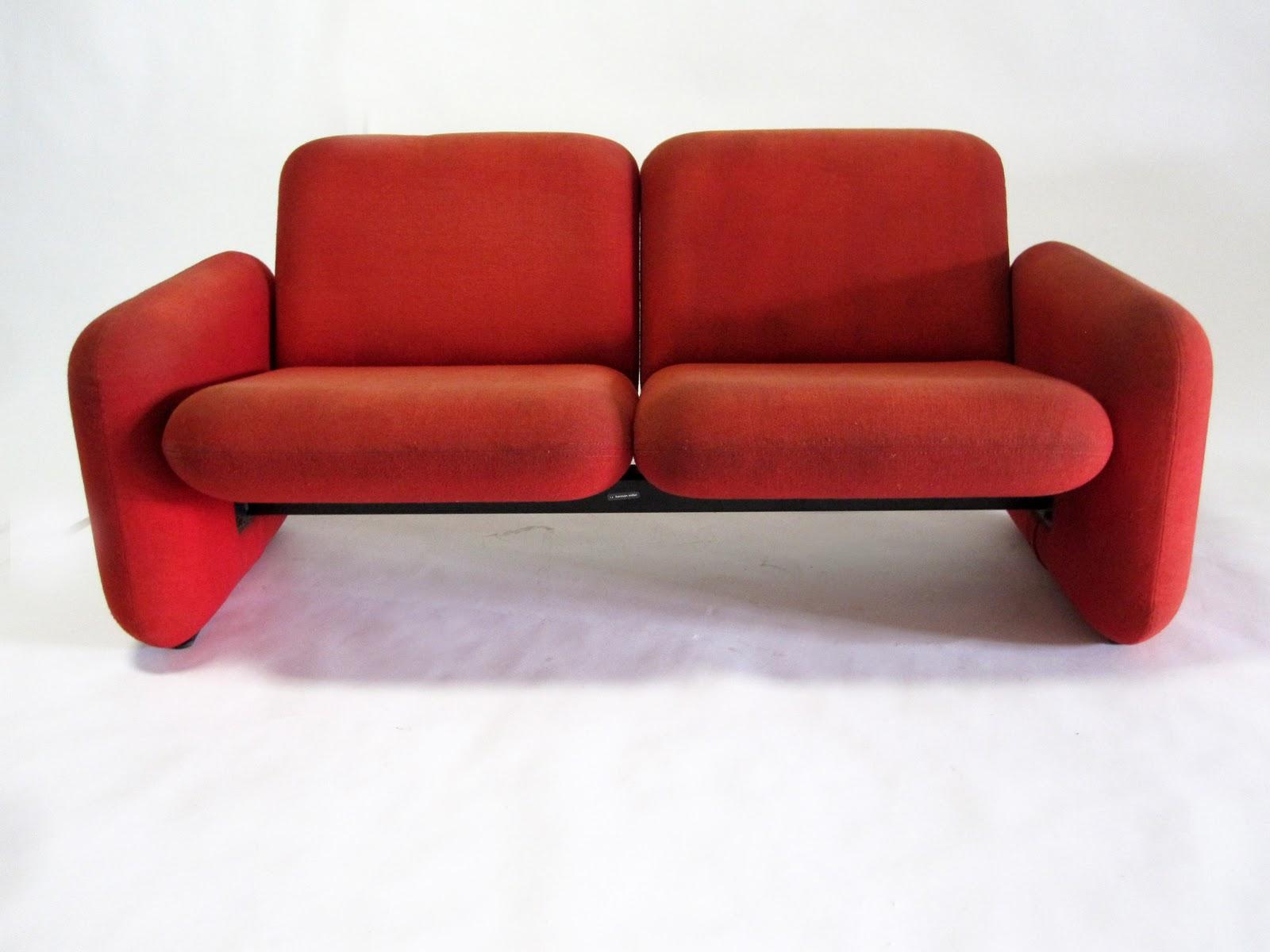 circa midcentury: herman miller chiclet sofa