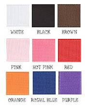 "7/8"" Solid Grosgrain Colors"