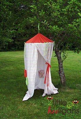 Someday Crafts Play Tent From Hula Hoop