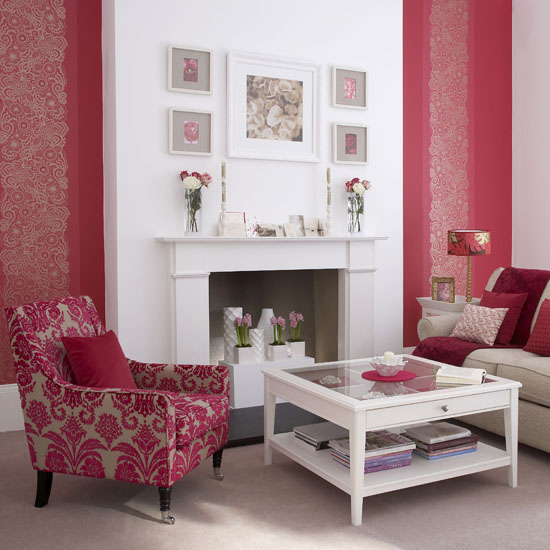 Benita loca blog for Red wallpaper designs for living room