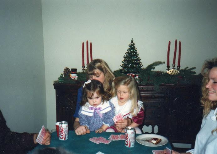 We learned poker early in my family.