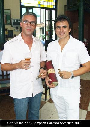 William Arias, Cuban habano-sommelier
