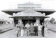 FOTO DA ESTAÇÃO DE TREM DE SÃO MIGUEL PAULISTA EM 1945