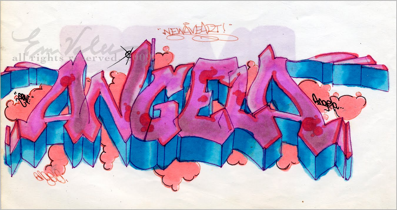 Pin Angie Nombre Graffiti Ajilbabcom Portal on Pinterest