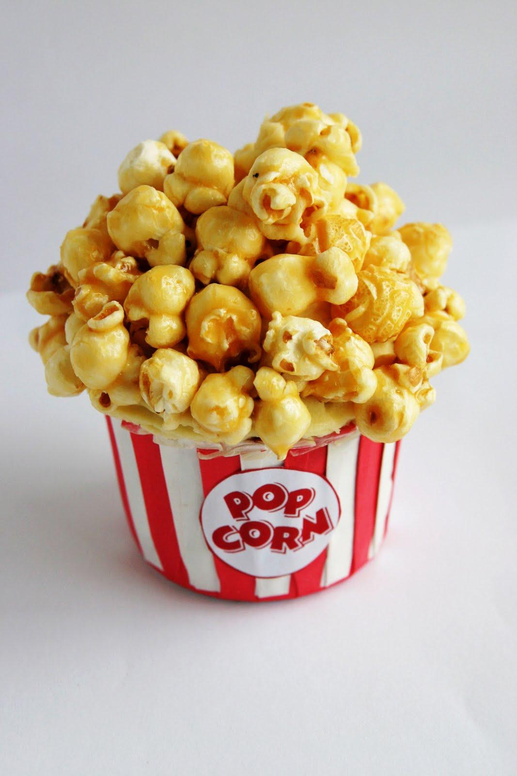 Caramel Popcorn Cupcake