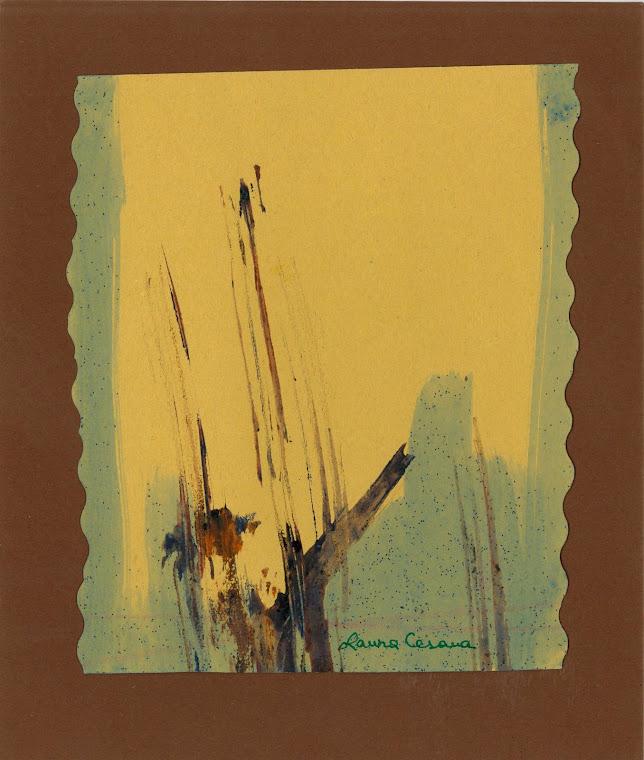 Pintura original de Laura Cesana feita expressamente para o meu livro A Tela do Mundo