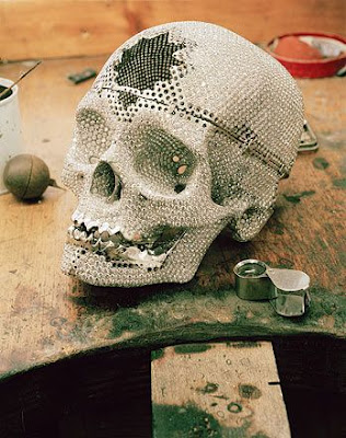 Amazing Skull Designed with Diamond