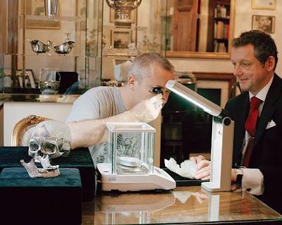 Amazing Skull Designed with Diamond