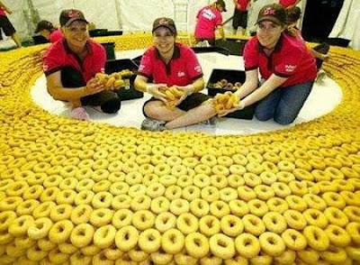 Giant Donut Made of Donuts