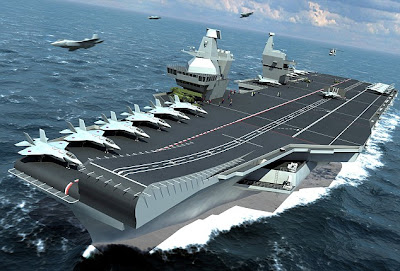 A computer-generated image of the new carrier