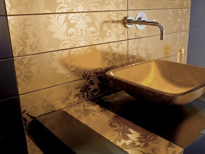 Gold Tiles from Dune - Damasco collection