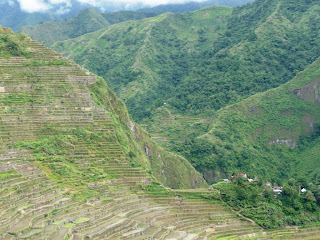 world famous rice terraces in Banaue Philippines