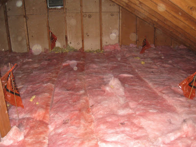 At home with h how to insulate your attic j even stapled some insulation to the top side of the attic door so i had every inch of my attic covered with insulation once we climbed down solutioingenieria Gallery