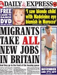 Express cover: Migrants take all new jobs