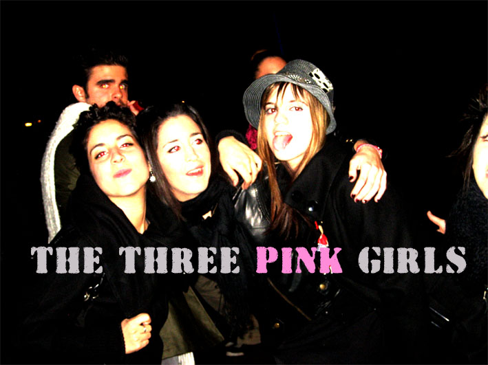 THE THREE PINK GIRLS