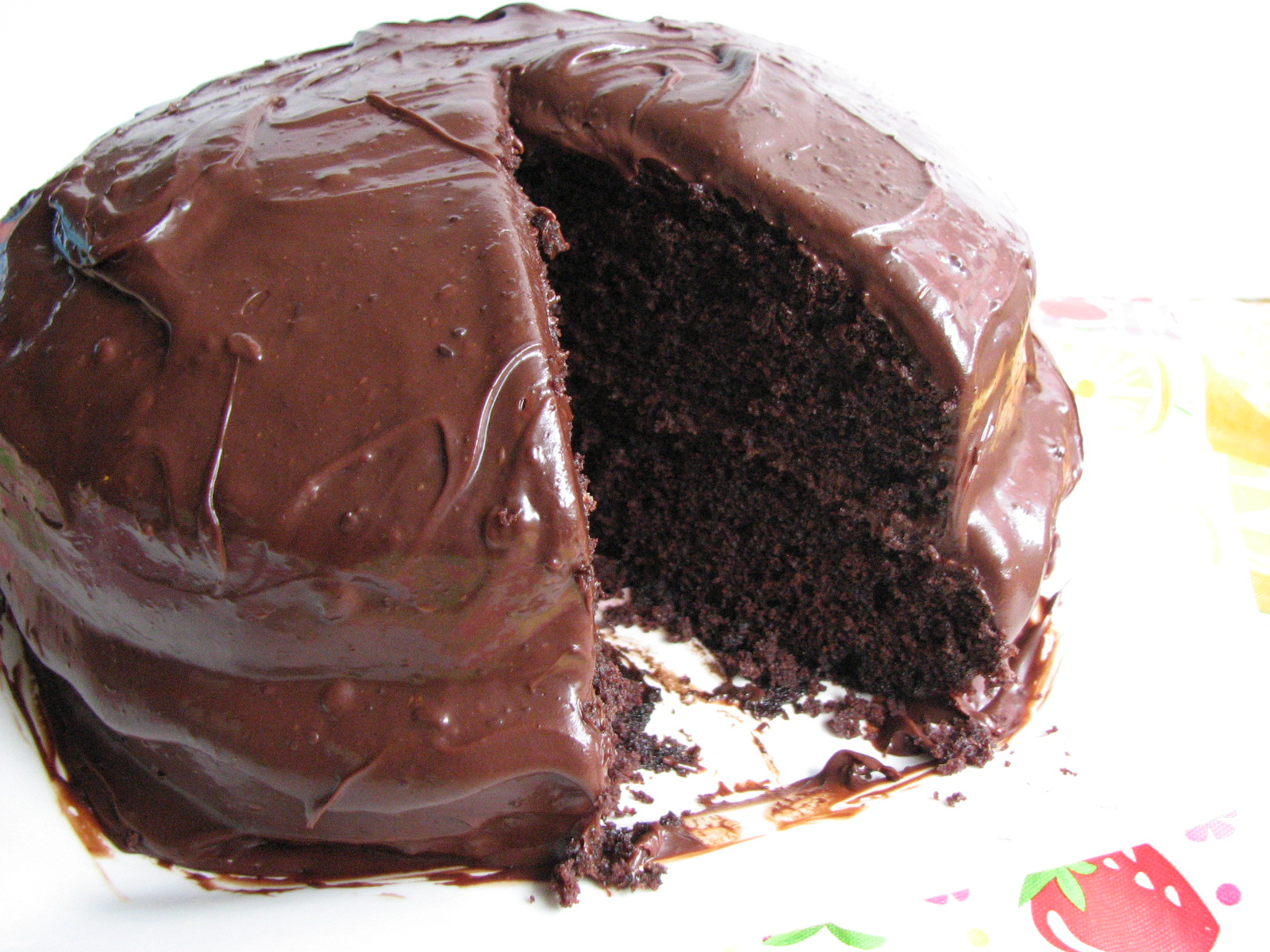 Heidi Bakes Old Fashioned Chocolate Cake with Glossy Chocolate Icing