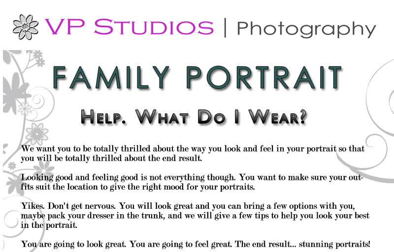 What To Wear Family Portrait