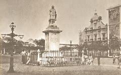 ESTÁTUA DE SALVADOR CORREIA DE SÁ - INAUGURADA NO ANO 1879, EM LUANDA, FOTO DO ANO - 1943.