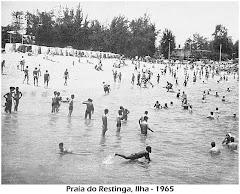 PRAIA DA RESTINGA, ILHA DE LUANDA - ANO 1965.