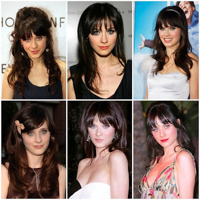 Zooey Deschanel is very beautiful in her Hairstyles Pictures